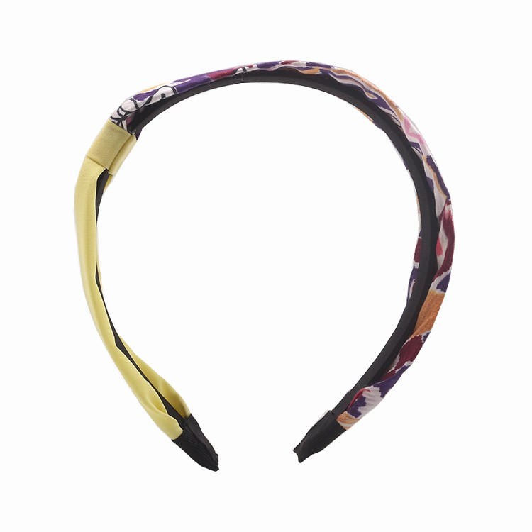 Unique Print and Solid Fabric Knot Plastic Hairband For Women Manufacturers, Unique Print and Solid Fabric Knot Plastic Hairband For Women Factory, Unique Print and Solid Fabric Knot Plastic Hairband For Women