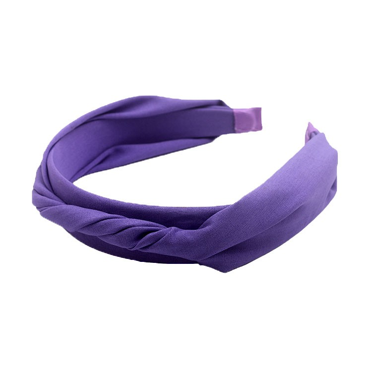 Simple Braid Purple Plastic Headband