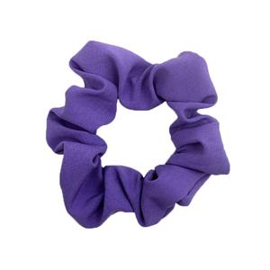 Plain hair scrunchy women solid color hair tie