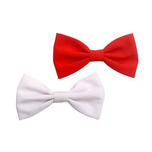 Solid Color Fabric Bowtie Metal Alligator Clip Hair Clips