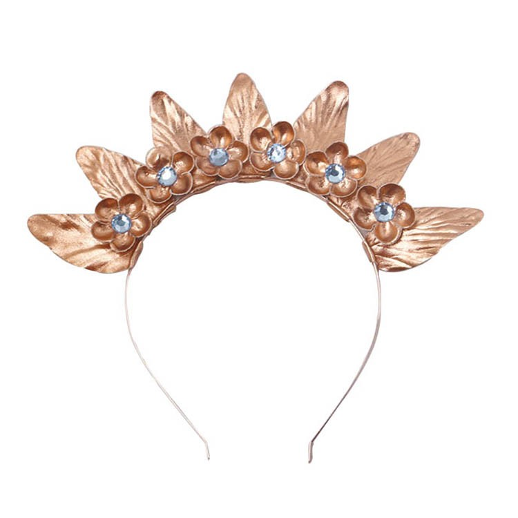 Fashion women PU leather flower hairband