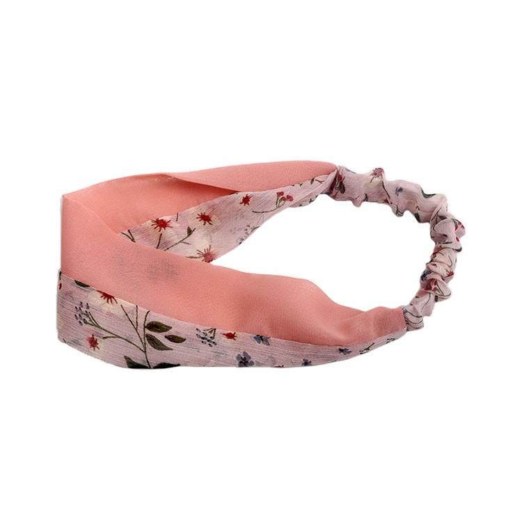 Fashion pattern chiffon elastic headband girls plain headband