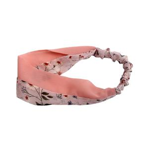 Fashion pattern chiffon elastic headband girls plain headband