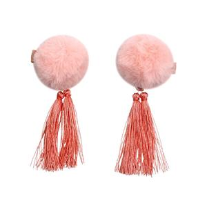 Cutie pompom hair clip girls pompom hair pin