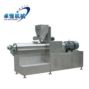 Double Screw Extruder Snack Food Processing Machine