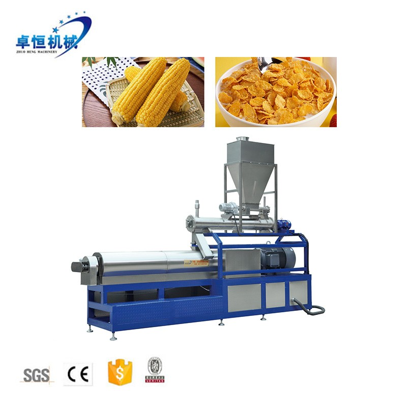 Breakfast Cereal Corn Flakes Processing Equipment Making Extruder