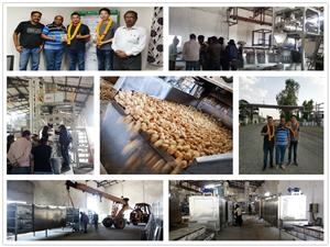 Debugging 2 sets Soya Protein Production line in India