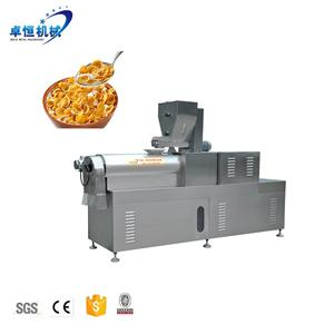 Industrial Extruded Cereal Corn Flakes Processing Equipment