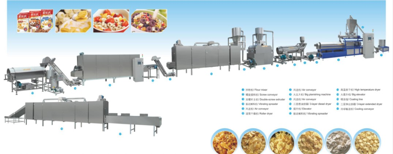 Corn flakes processing machine extruder