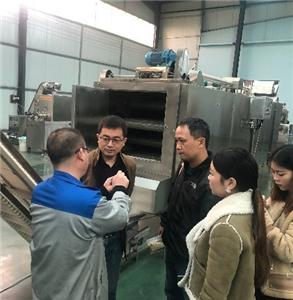 Customers from Vietnam visited us for 150-200kg/h Nutritional rice machine