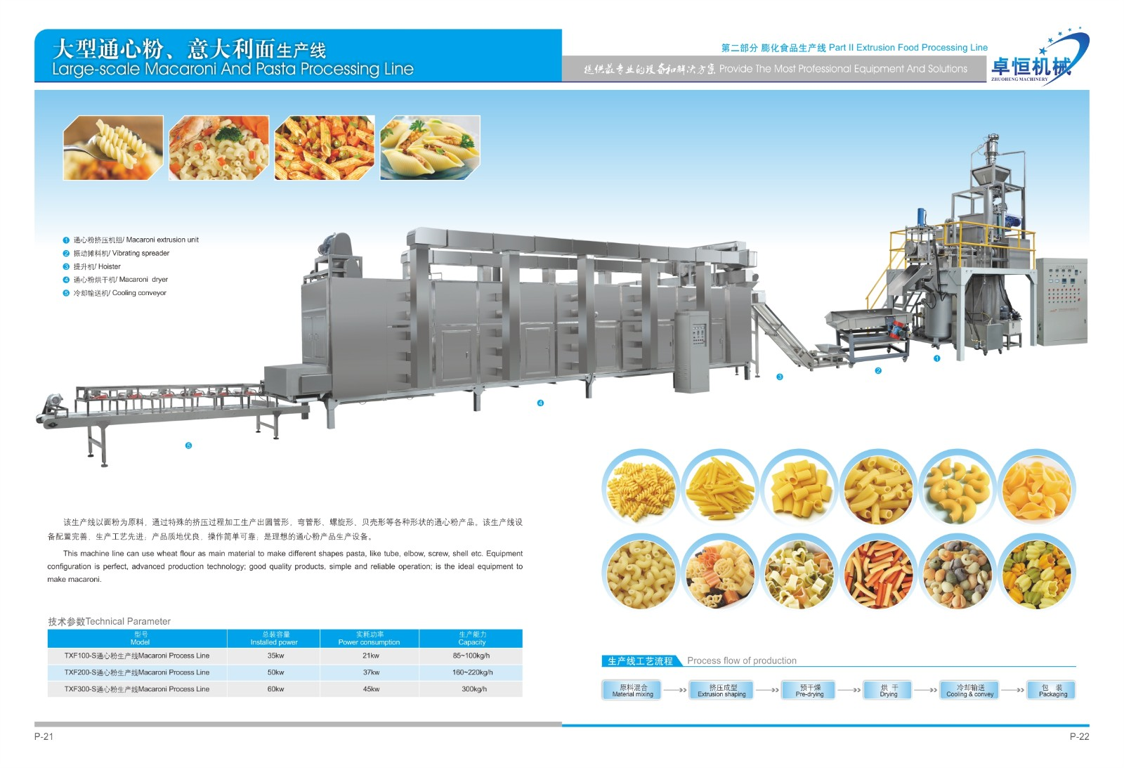factory price pasta machinery