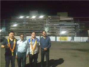 Successful installation of 1t/h soya protein nuggest making machine at Sujalpur,madhya Pradesh, India