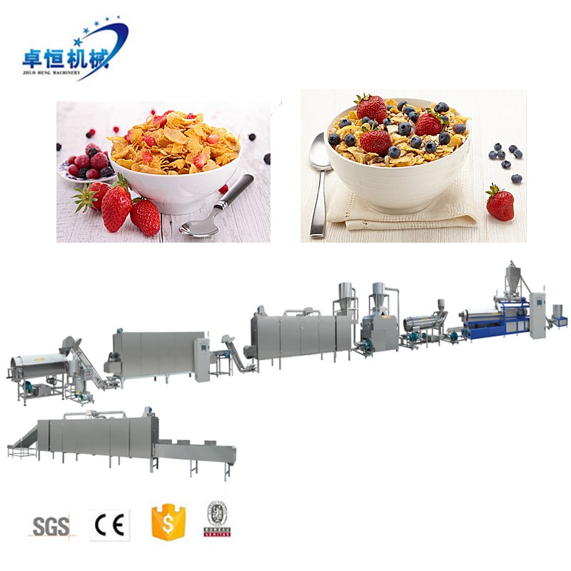 Automatic breakfast cereal corn flakes production machine line