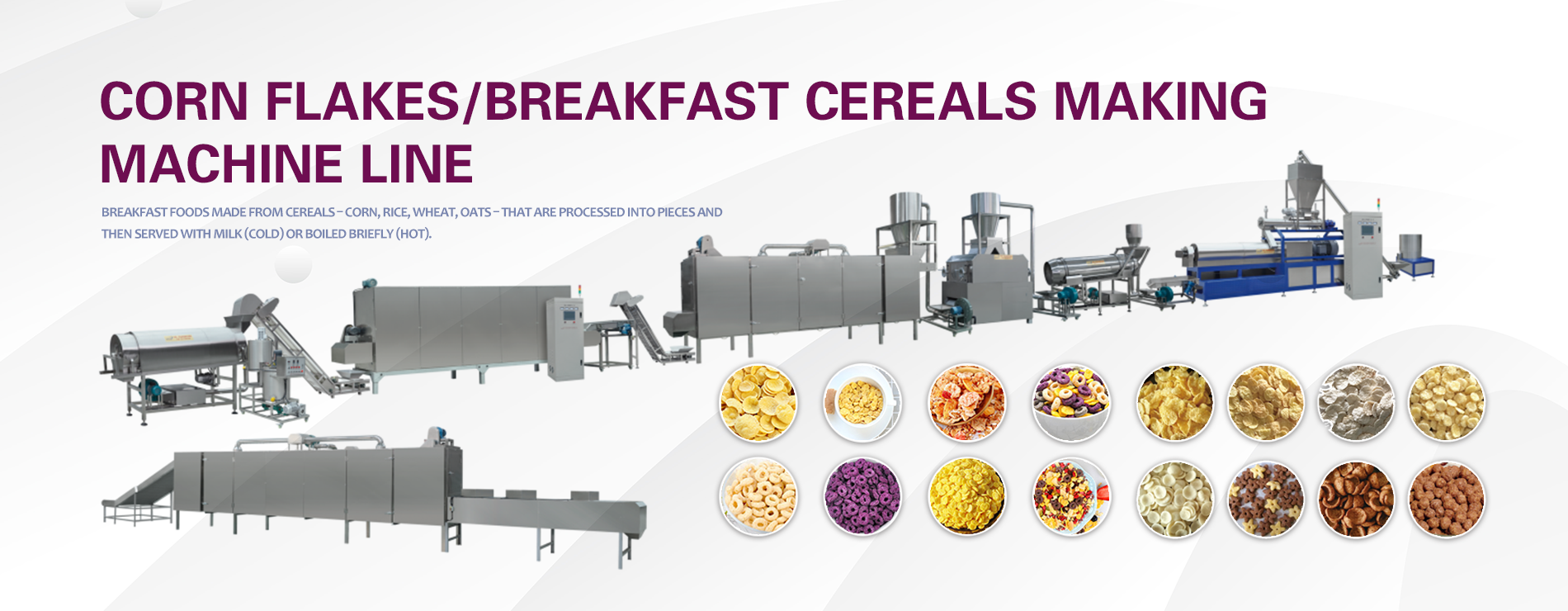 corn flakes /breakfast cereals making machine line