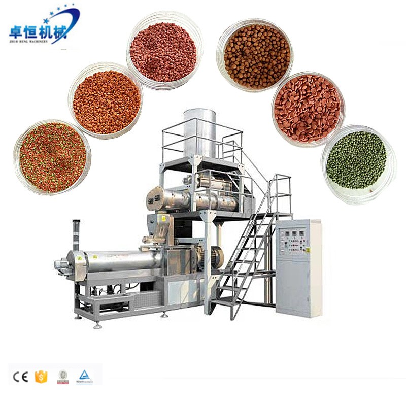 Double screw Pet Fish Feed Dog Cat Food Making Machine Production Plant