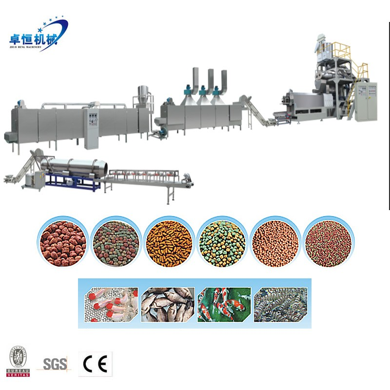 China Large Capacity Twin Screw Extruder Floating Fish Feed Pellet Machine