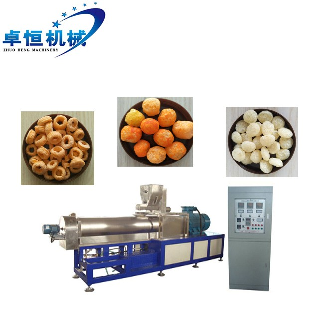 Factory supply high quality Puffed Snacks leisure Food Extruder Machine Processing Line