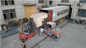 Loading puffed snack food machine line to Malawi