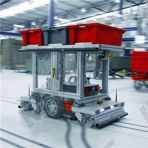 Take out Sprue Cut Pallet Changer Quality Checking AGV Automation System