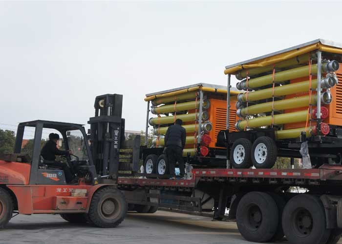 shipment of Trailer Mount Diesel Pump