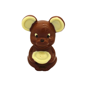 3D hollow mouse milk chocolate 100g