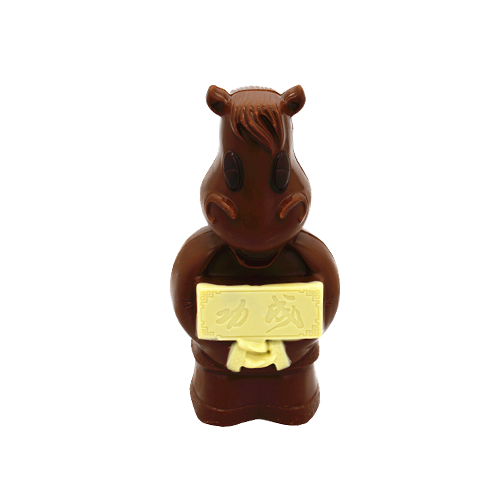 3D hollow horse milk chocolate 100g