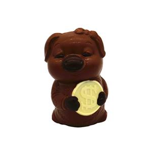 3D hollow pig milk chocolate 100g