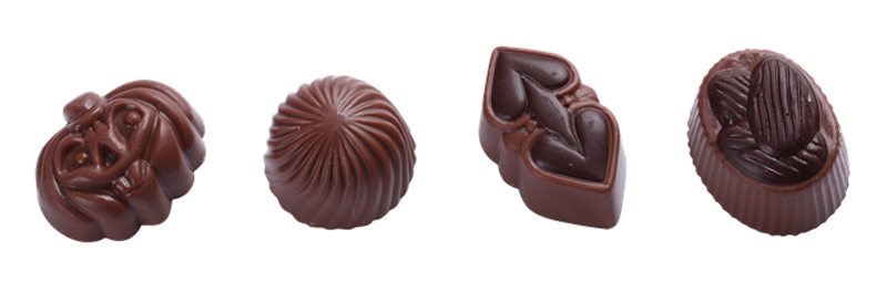 Shaped chocolate