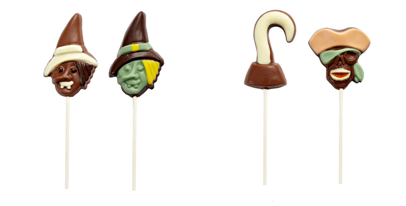 Halloween lollipop chocolate