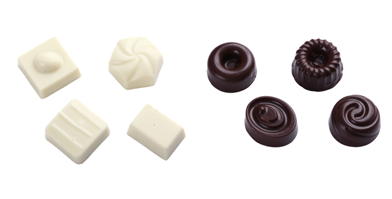 Shaped chocolate
