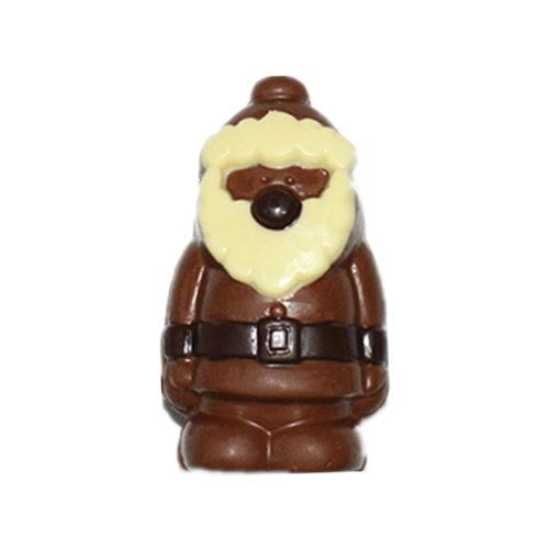 Little santa 3D hollow milk chocolate
