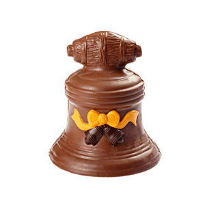 Christmas bell 3D hollow milk chocolate