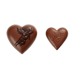Cupid two hearts 3D hollow milk chocolate