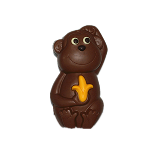 Monkey 3D hollow milk chocolate