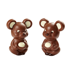 Little mouse 3D hollow milk chocolate