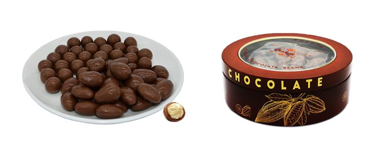 Hazelnut chocolate beans