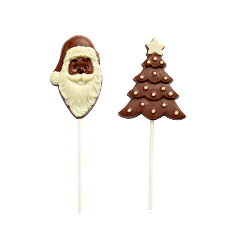 Christmas' day shape lolipop milk chocolate 12g
