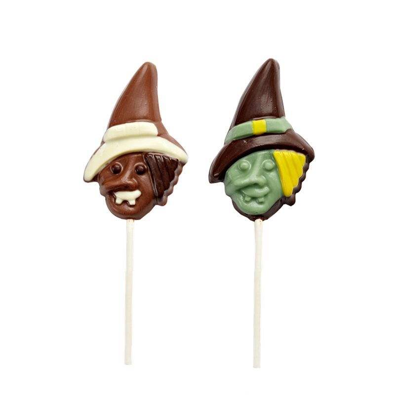 Halloween's day shape lolipop milk chocolate 12g