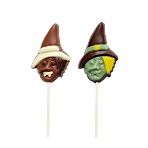 Halloween's day shape lolipop milk chocolate 12g