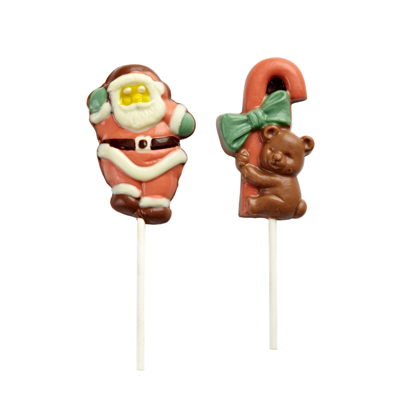 Christmas' day shape lolipop milk chocolate 20g