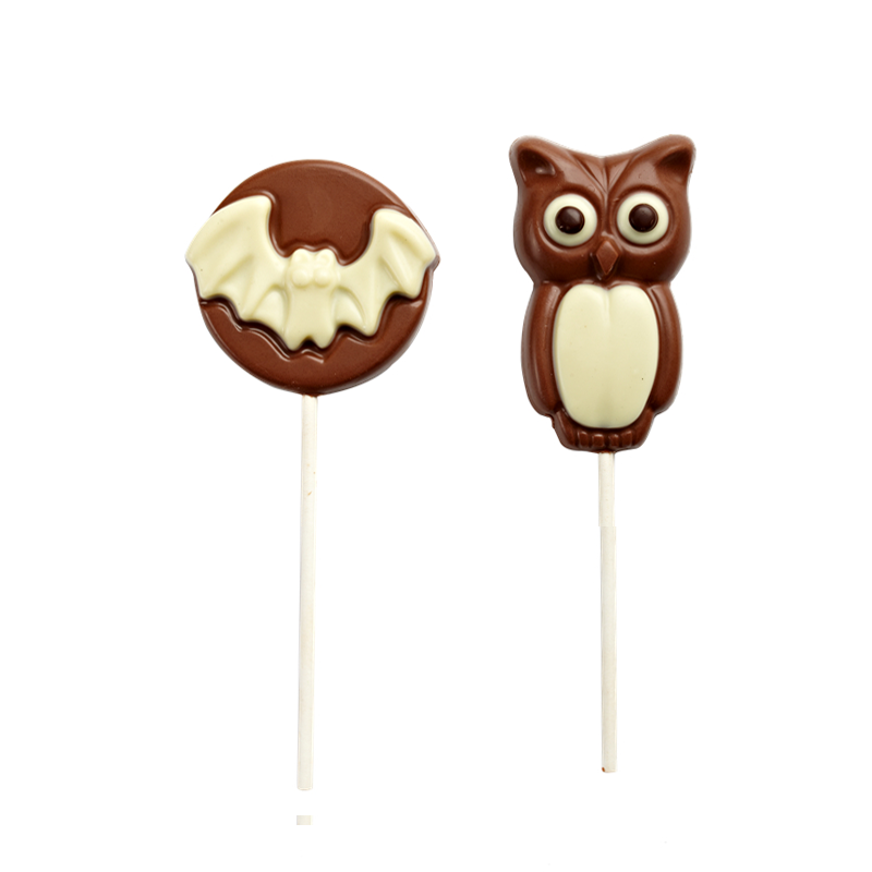 Halloween's day shape lolipop milk chocolate 20g