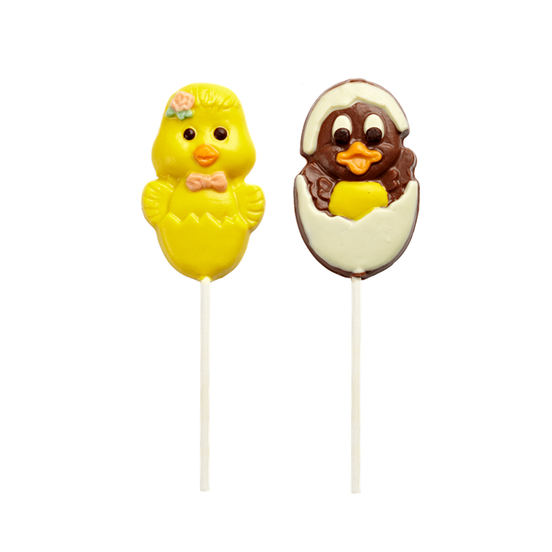 Easter's day shape lolipop milk chocolate 35g