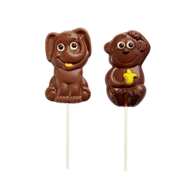 Christmas' day shape lolipop milk chocolate 35g.