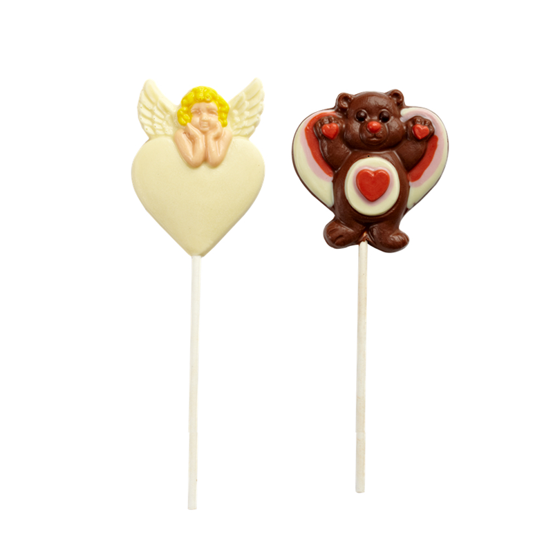 Valentine's day shape lolipop milk chocolate 35g