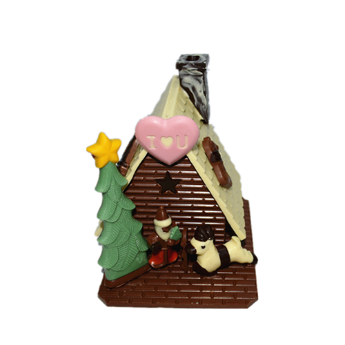 Handmade christmas cottage 3D hollow milk chocolate