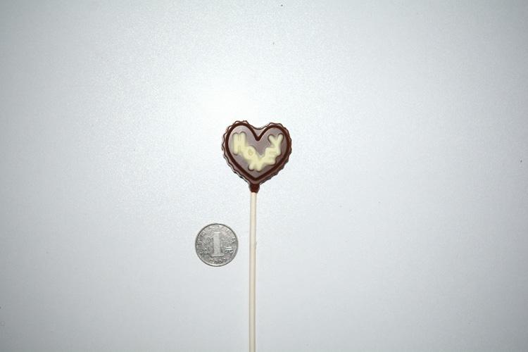 Valentine's day lollipop chocolate