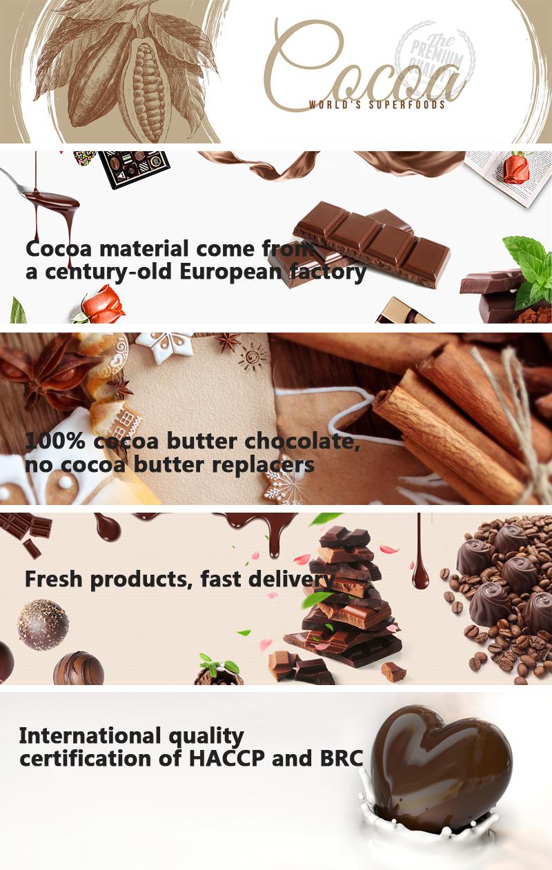 macadamia nuts chocolate stars milk chocolate