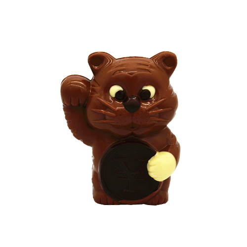 3D hollow tiger milk chocolate 100g