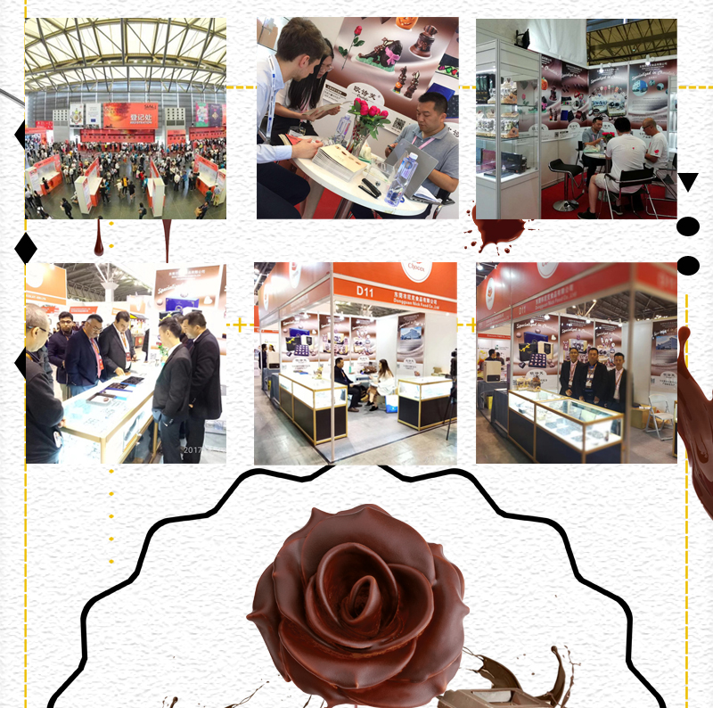 Factory price beautiful rose shape pure milk chocolate wholesale