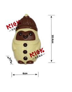 Little snowman 3D hollow milk chocolate